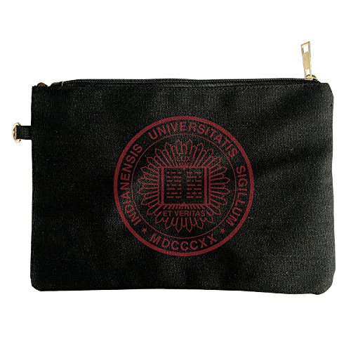 The Seal Of Indiana University Canvas Zipper Pouch Pencil Case, Make Up Bag, Cell Phone Bag, Travel Toiletry Organizing - University Florida Seal