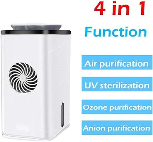 NOBUNO Inicio UV purificador de Aire purificador de Aire portátil generador de ozono ozonizador anión de Limpieza ozonizador esterilizador UV Multifuncional: Amazon.es: Hogar