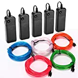 CPPSLEE EL Wire Kit Super Bright Portable Neon Light - for Christmas Halloween