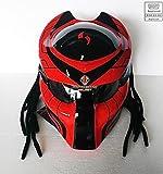 Pro Predator Motorcycle Helmet Dot Approved SY33 RED Black (XXL)