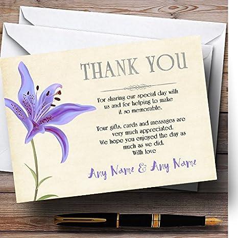Amazon.com: Tarjetas de agradecimiento de boda ...