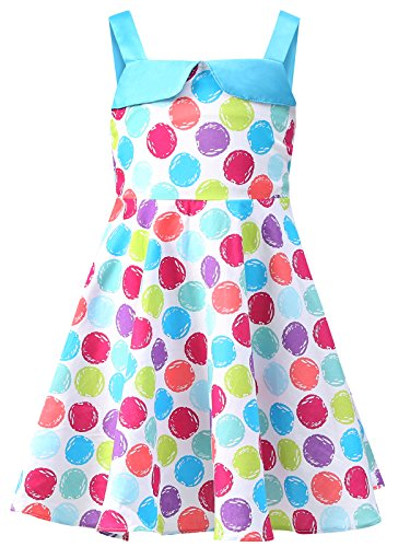 Bonny Billy Girl's Dress Easter Sweet Candy Dress 7-8 Years Polka Dot by Bonny Billy