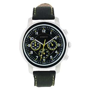 Timex Milan Chronograph - Reloj de caballero de cuarzo, correa de textil color negro (con luz, cronómetro)