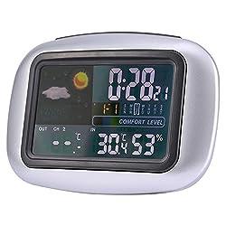 Shalleen Indoor/Outdoor Wireless Weather Station Clock Digital Temperature Humidity Meter