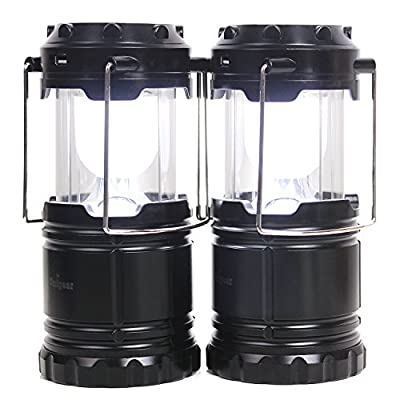 LED Camping Lantern, Portable Collapsible Outdoor Water Resistant Camp Light Flashlight for Hiking, Fishing, Backpacking, Emergencies, Hurricanes, Outages, Storms