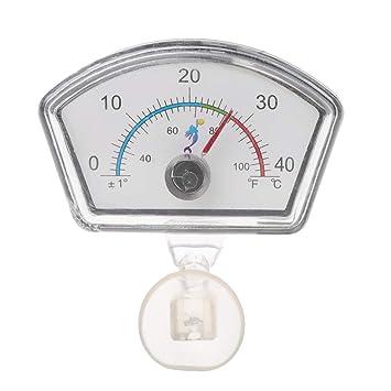 Dabixx Termómetro Indicador de Acuario Tanque de Peces Dial de Temperatura Sumergible Ventosa - Forma de Abanico: Amazon.es: Hogar