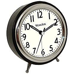 Westclox 75032 Classic Retro Alarm Clock with Chrome Bezel