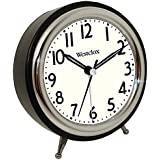 Westclox 75032 Classic Retro Alarm Clock with Chrome Bezel
