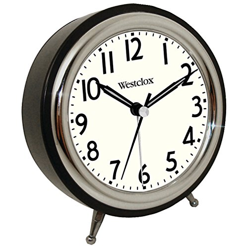 Westclox 75032 Classic Retro Alarm Clock with Chrome Bezel Bezel Alarm
