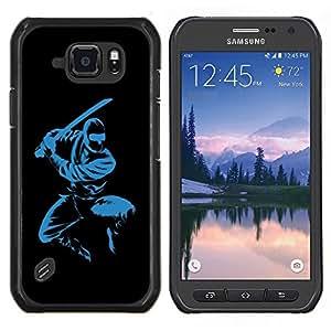 """For Samsung Galaxy S6 active / SM-G890 , S-type Azul Ninja"""" - Arte & diseño plástico duro Fundas Cover Cubre Hard Case Cover"""
