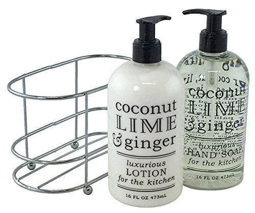 [3 Pc Gift Set - Coconut Lime and Ginger Duo in Caddy] (Peeling Face Costume)