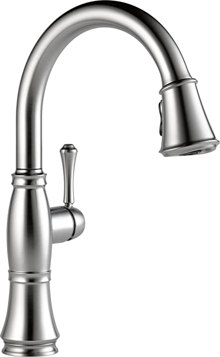 Delta Faucet 9197-AR-DST Cassidy, Single Handle Pull-Down Kitchen ...