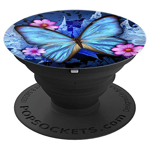 Blue Butterfly - PopSockets Grip and Stand for Phones and Tablets