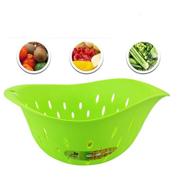 Pla maíz pétalos Cuenca verduras y lavar arroz tamiz 1 Set ...
