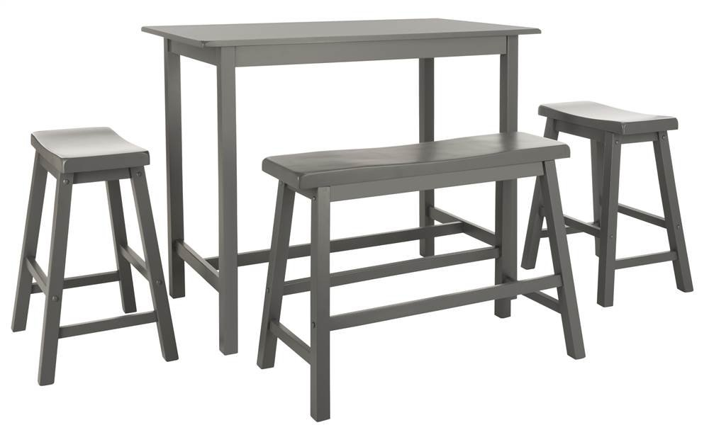 Safavieh Home Collection Haley 4Pc Pub Set, Grey