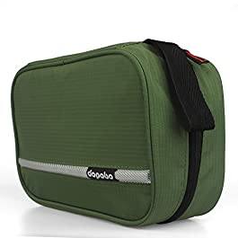 Dopobo Travelling Toiletry Bag Portable Hanging Water-Resistant Wash Bag for Travelling, Business Trip, Camping (army green)