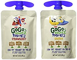 Gogo Squeez Yogurtz Go, Strawberry, Banana, 3oz, 16ct