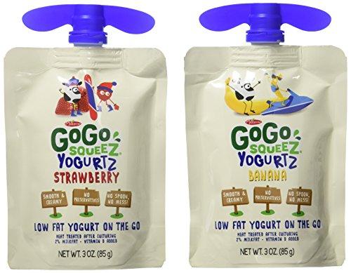 GoGo Squeez Yogurtz On The Go, Strawberry, Banana, 3oz, 16ct