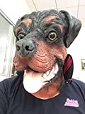 Rottweiler Dog Mask, Deluxe, Full Head Latex Mask, Costume Party, Animal Masks