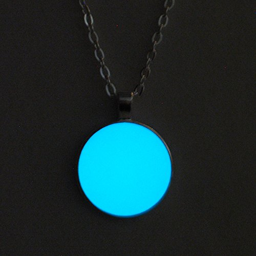 Modern Nerd Costume (Blue Full Moon Glow in the Dark Pendant Necklace)