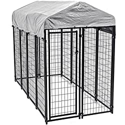OutDoor Heavy Duty Playpen Dog Kennel w/ Roof Water-Resistant Cover + FREE E-Book