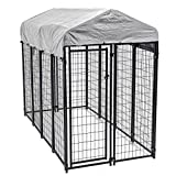 8'x4'x6' OutDoor Heavy Duty Playpen Dog Kennel w/ Roof Water-Resistant Cover