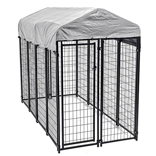 8'x4'x6' OutDoor Heavy Duty Playpen Dog Kennel w/ Roof Water-Resistant Cover by Happybeamy
