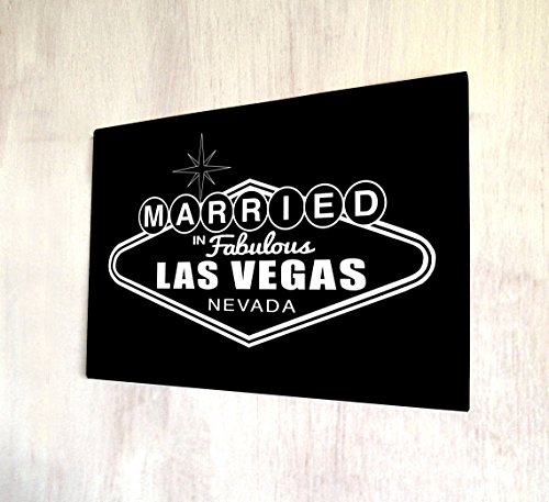 Artylicious Married in Las Vegas Nevada A4 Metal Sign Plaque Wall Art
