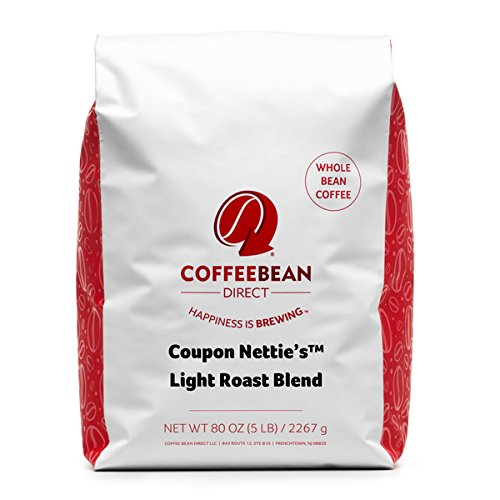 Coffee Bean Direct Coupon Nettie's™ Touch off Roast Blend, Whole Bean Coffee, 5 Pound Bag