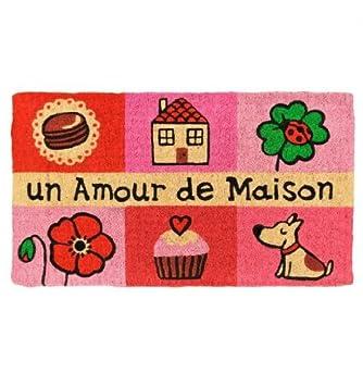 Derrière la Porte - Paillasson Un amour de maison rose Derrière la ...