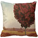 Home Decorative Square Custom Throw Pillow Cover Elegant Theme Nature Simple Theme Nature Wonderful 18 X 18Inches Cotton Comfortable Throw Pillowcase