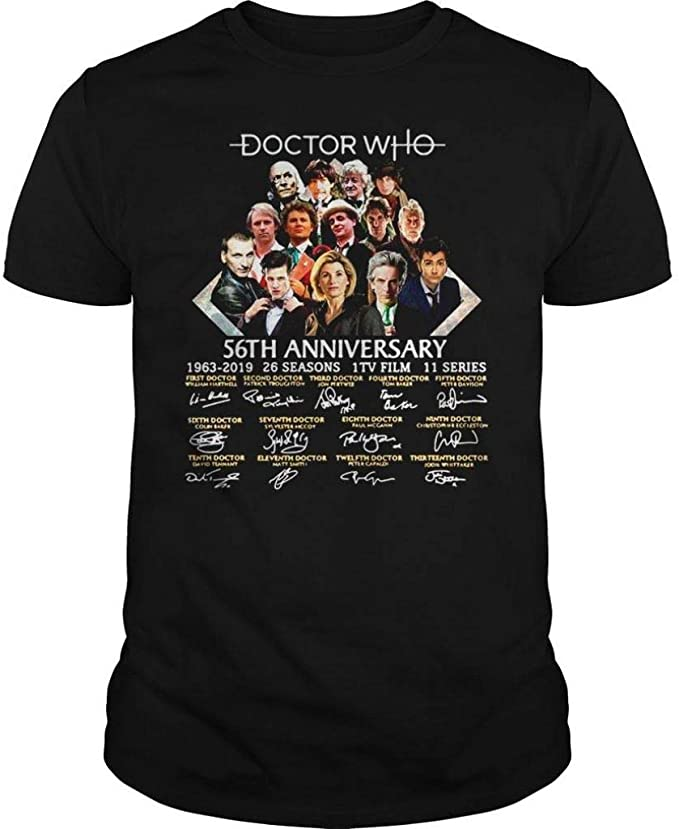 Doctor 56th Anniversary 1963-2019 Shirt Patronus-Dr Memories Customized T-Shirt Hoodie//Long Sleeve//Tank Top//Sweatshirt