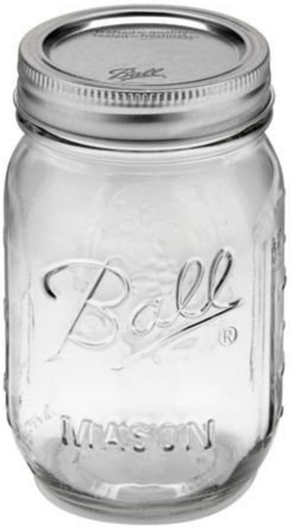 Ball Jar, Regular Mouth, Set of 12, (16 oz) Artículos para Fiesta+ ...