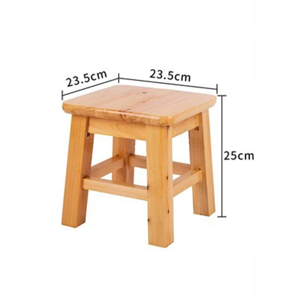 BLAKQ Wooden Bench- Solid Wood Stool Creative Small Bench Children's Stool Fashion Low Stool Square Stool Wooden Stool - Stool Saddle 6435 (Color : B)