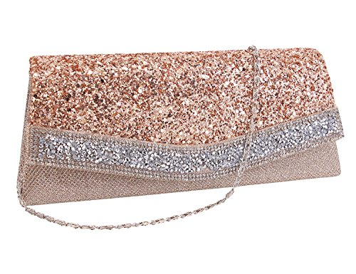 Bag Party Prom chamapagne Rhinestone Shiny Women Evening Bag Purse Bag Cocktail Clutch Batique Wedding yRAIYO1ffF