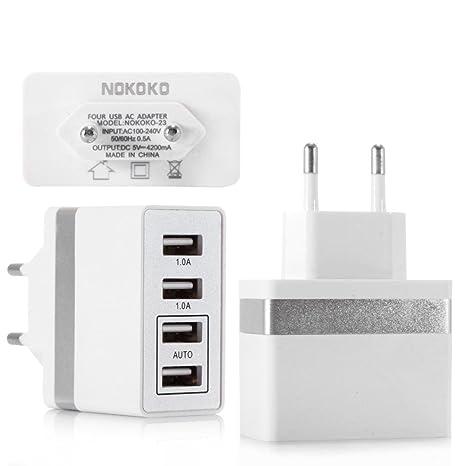 Y56 USB de Cargador de 4 Puertos USB Cargador para iPhone ...
