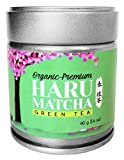 HARU MATCHA – 40g Tin (1.4oz) Japanese Organic Premium Ceremonial Grade Matcha Green Tea Powder – JAS Organic Certified – Ichibancha First Harvest For Sale