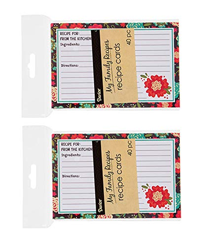 My Family Happy Day Recipe- 2 Packs of 40 recipe cards, 80 Total Cards