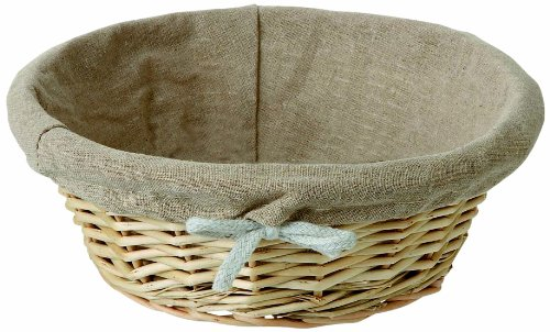 Matfer Bourgeat 573476 Wicker Basket Round Linen Lined
