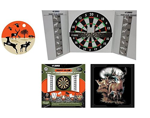 Triumph Sports Hunt Club Steel Tip Dartboard Game Station