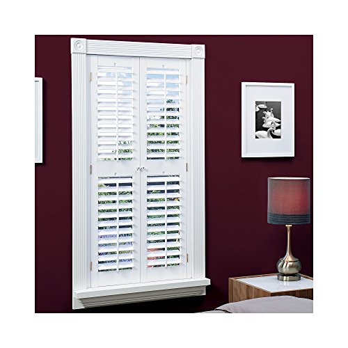 n Faux Wood White Interior Shutter (Price Varies by Size) QSPA3548 ()