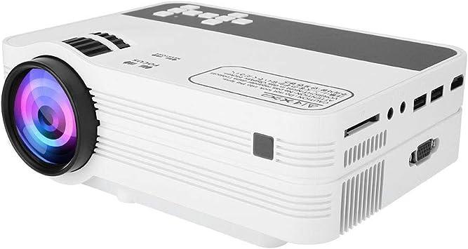Opinión sobre Mini proyector LED portátil 3D, 5500lumen Full HD 1080P 1920 * 1080 LCD de Cine en casa, Este proyector Puede proyectar al Techo, Compatible con SD USB AV HDMI VGA, etc.(EU Plug)