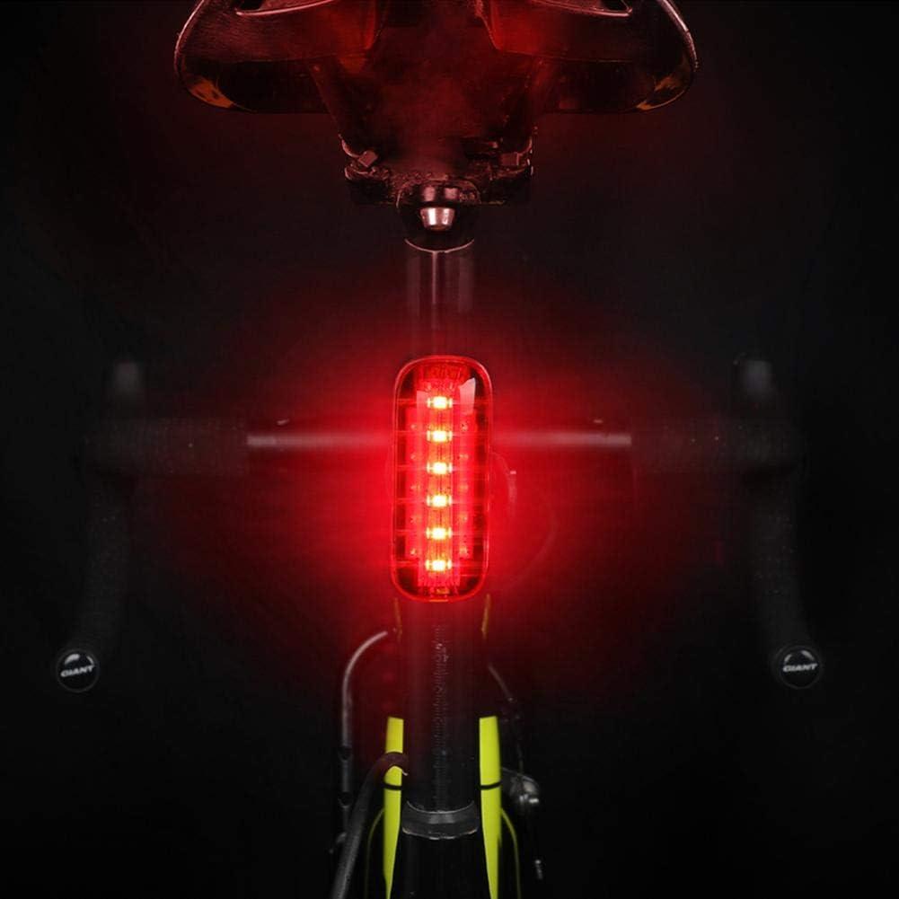 Fahrradlicht USB wiederaufladbar Induktion MTB R/ücklicht Sicherheit Warnung Lampe