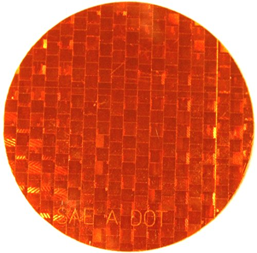 ifloortape DOT-SAE Amber Dot 3 Inch Round High Visibility Reflective Stick On Reflector (4 - Round Reflectors Small