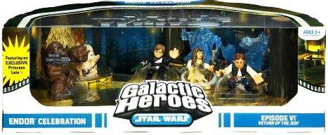 (Star Wars Galactic Heroes Cinema Scene - Endor Celebration)
