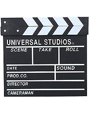 Movie Film Clap Board, Hollywood Clapper Board Wooden Film Movie Clapboard AccessoryDirector Cut Prop, Wooden Director Scene Clapperboard TV Movie Clapper Board Film Cut Prop