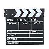 Acouto Wooden Director Scene Clapperboard TV Movie Clapper Board Film Cut Prop
