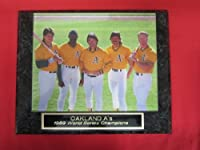 1989 Oakland A's World Champions Collector Plaque w/8x10 Posed Photo