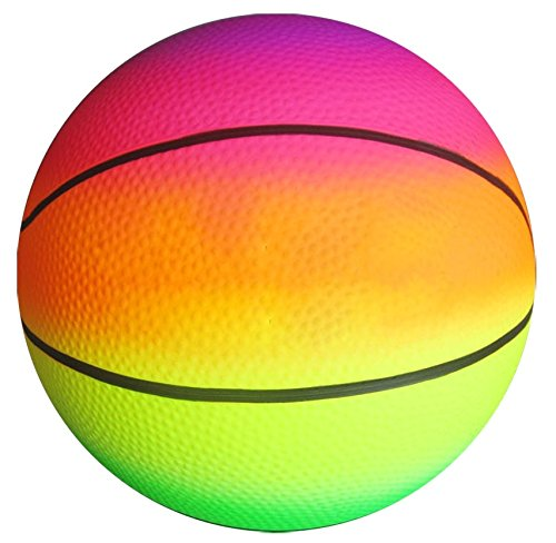 Fiesta Toys Rainbow Bouncy Basketball, 8.5