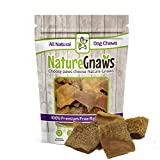 Nature Gnaws Tripe Chips 2-3'' (20 Pack) - 100% All Natural Grass Fed Premium Beef Dog Treat Chews
